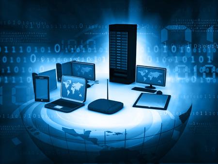 Netzwerk und Internet Kommunikationskonzept Standard-Bild - 48243348