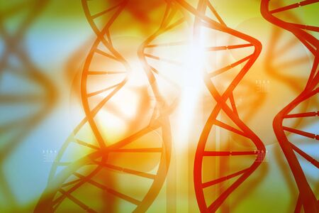 stems: DNA molecules on abstract  background