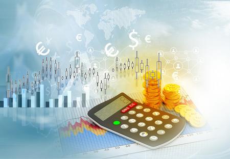 economical: Stock market graphs, business chart