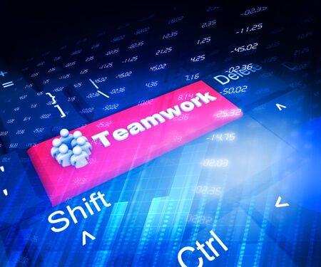 team concept: Team work concept background