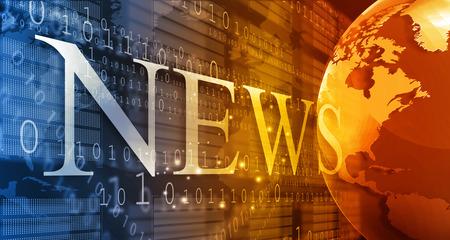 Słowa Wiadomości na tle cyfrowe