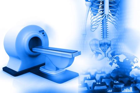 3d de escáner de imágenes de resonancia magnética, los escáneres MRI, CT con esqueleto humano