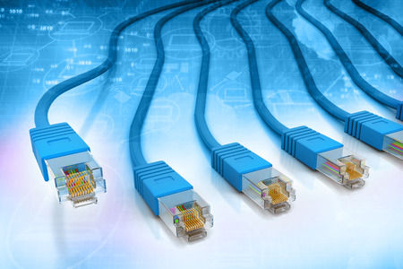 utp: Network cables on  tech background