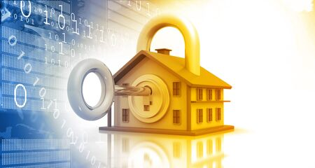 best security: Best design of  house security, house with key