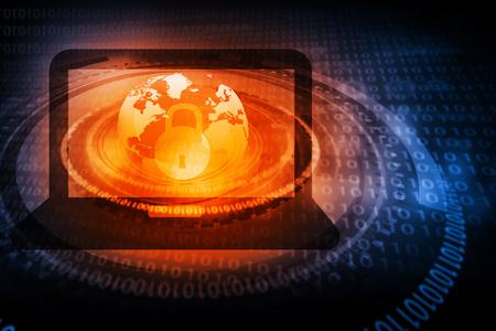 Digital background of Internet Security Standard-Bild