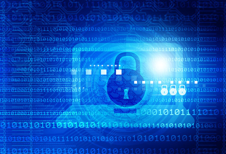 Digitale achtergrond van Internet Security Stockfoto - 52102725