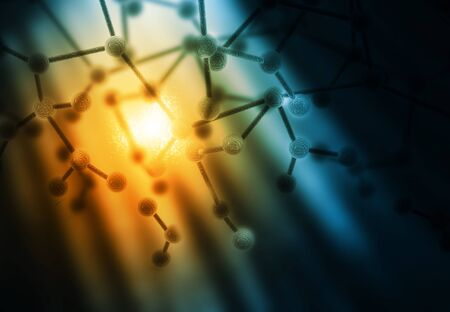 biology lab: Abstract Molecules background Stock Photo