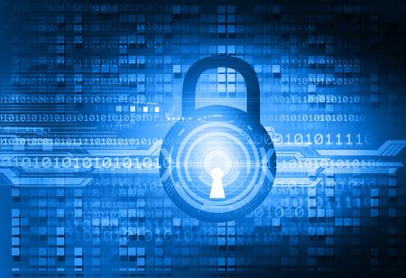 fondo digital de Internet Security Foto de archivo