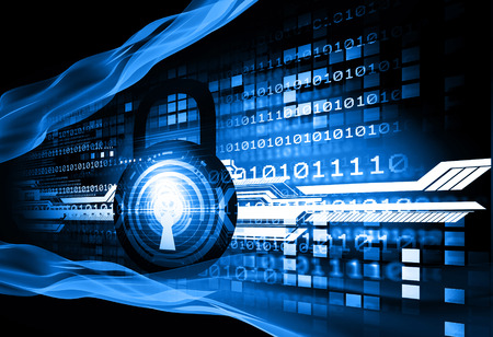 Digital background of Internet Security Stock Photo