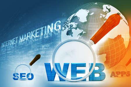advertising design: Digital design of internet marketing Stock Photo