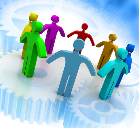 unite: Team work concept background