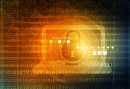 internet security: Digital background of Internet Security Stock Photo