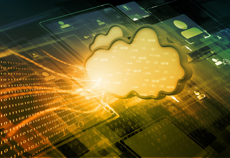 contrast: Cloud computing concept,  abstract background