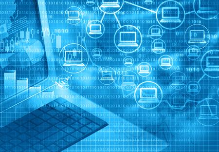 Cloud computing avec le marketing internet, fond abstrait Banque d'images