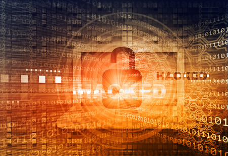 Digital background of Internet Security, system hacked