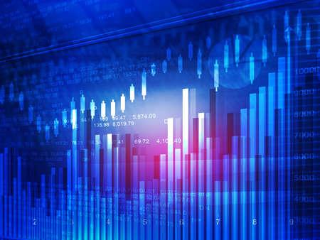 financial market: Stock market chart. Financial background Stock Photo