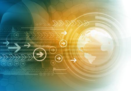 Zusammenfassung Technologie Hintergrund. Digitales weltkonzept Standard-Bild - 57482046