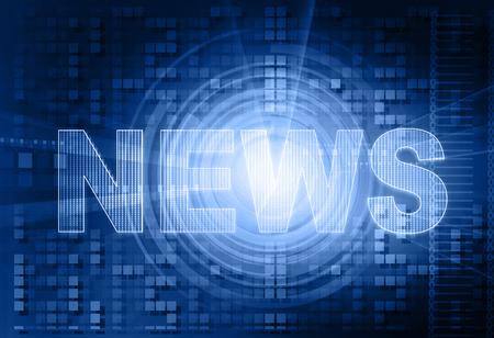 words News on digital background