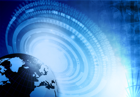 fiber optics: Globalization of fiber optics. Digital world ,  global internet technology
