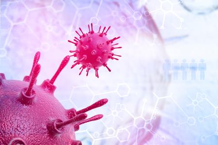 Virus, 3d illustration Foto de archivo