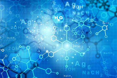 molecula: Moléculas abstractas. la ciencia y la tecnología de base Foto de archivo