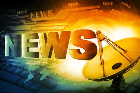 parole di notizie su sfondo digitale
