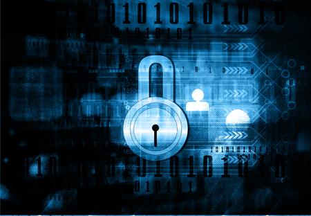 pad lock: Internet security. Pad lock on digital tech background Stock Photo