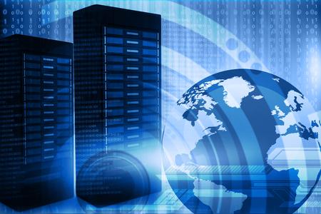 Network server with binary stream 스톡 콘텐츠