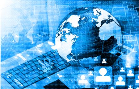 ネットワーク、インターネット、グローバル化のグローバル ビジネス コンセプトの未来的な背景 写真素材