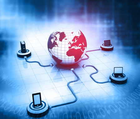 internet network: Global Computer Network and internet communication concept.
