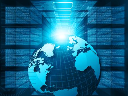 digital world: Digital world , global internet technology