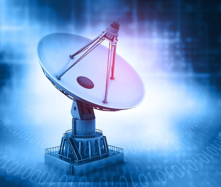 dish: Satellite dish. radar dish Stock Photo