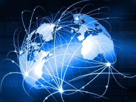 ネットワーク、インターネット、グローバル化のグローバル ビジネス コンセプトの未来的な背景 写真素材 - 59028461