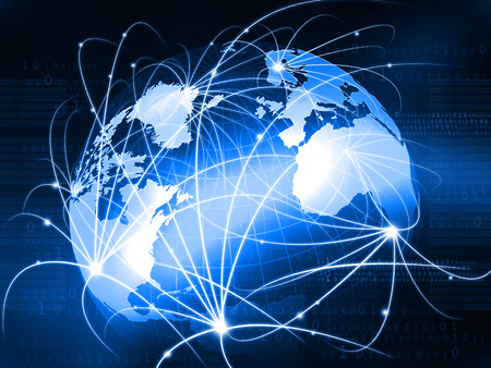 Futuristic background of Global business network, internet, Globalization concept Фото со стока - 59028461