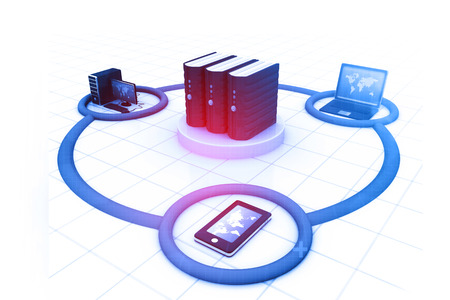 internet network: Computer Network and internet communication concept.