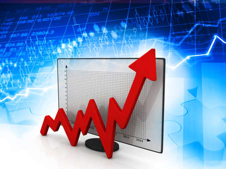financial graph: Business graph. Financial background Stock Photo