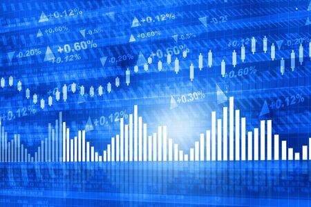 stock chart: Stock market chart. Financial background Stock Photo
