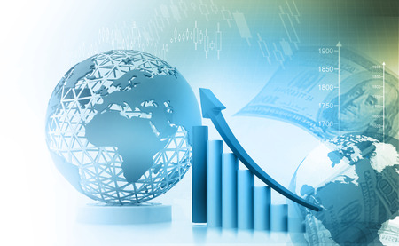 Business graph background Stock Photo