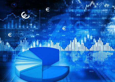 stock chart: Stock market chart