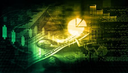 nasdaq: Financial chart and graphs background. stock market anylis.