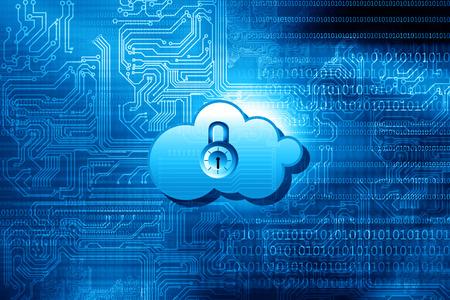 클라우드 보안 개념을 계산 스톡 콘텐츠