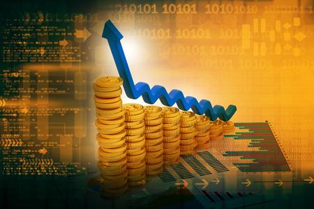 Business growth chart Standard-Bild