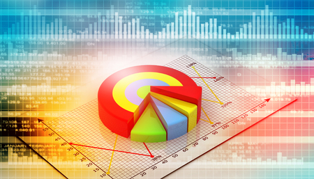 nasdaq: Financial charts and graphs with digital background