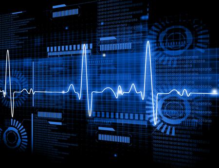ECG elektrocardiografie, medische en gezondheidszorg achtergrond. Stockfoto