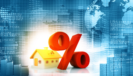 property investment: Real estate growth chart. financial background Stock Photo