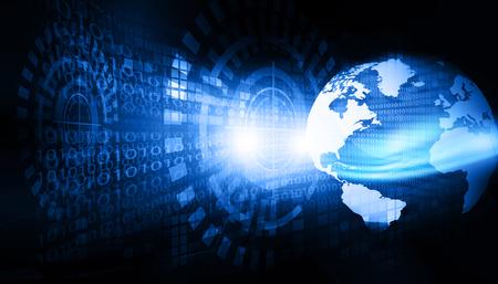 Global communication technology background Stock Photo