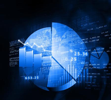 nasdaq: Stock market chart. Financial background Stock Photo