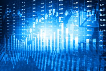 financial figures: Stock market chart. Financial background Stock Photo