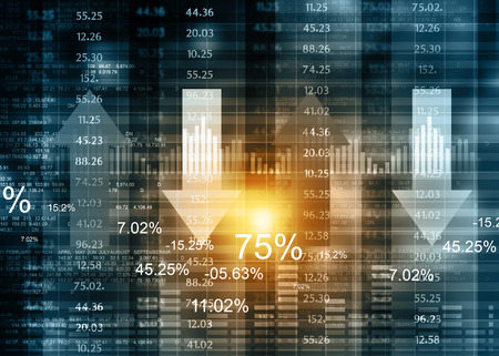 Stock market chart. Financial background Stock Photo