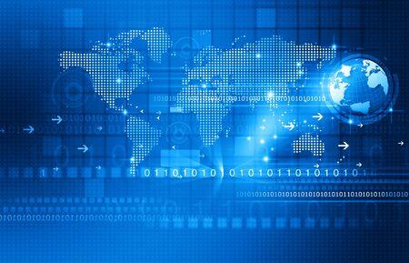 global communication: Global communication technology background Stock Photo